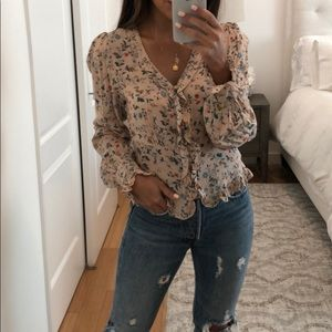 Tops - Floral ruffle top